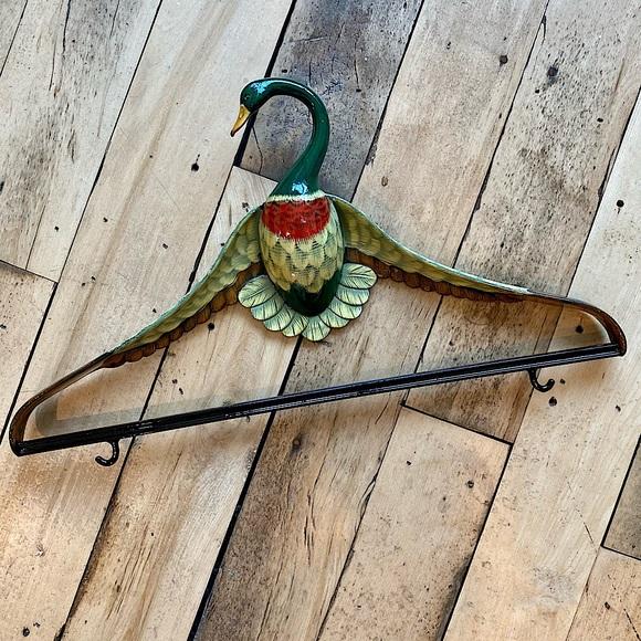 VINTAGE Wooden Duck Hanger Novelty